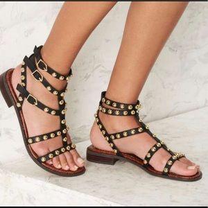 Sam Edelman Eavan Black Leather Sandal Size 8